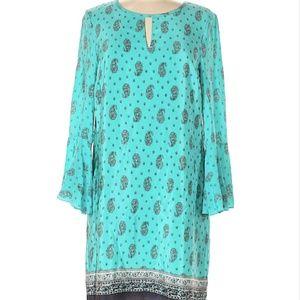 Juicy Couture Silk Paisley Keyhole Dress 6